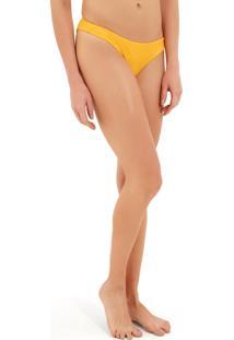 Calcinha Rosa Chá Lena Canelado Bicolor Beachwear Dupla Face Amarelo Rosa Feminina (Amarelo/Rosa, G)