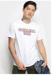 Camiseta T-Shirt Cavalera Masculina - Masculino-Branco
