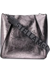 Stella Mccartney Bolsa Transversal Com Logo - Prateado