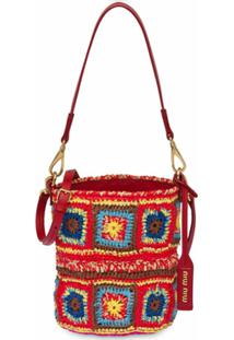 Miu Miu Bolsa Bucket De Crochê - Vermelho