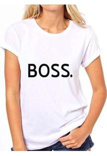Camiseta Coolest Iza Boss Feminina - Feminino-Branco