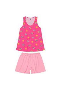 Pijama Feminino Curto Malwee 1000083364 Rosa