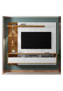 Painel Para Tv Até 60 Pol Trend Móveis Bechara 3 Portas 2 Prateleiras