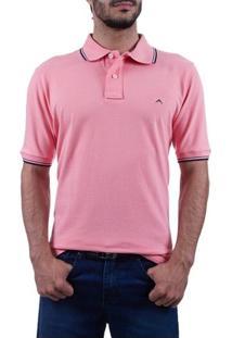 Camisa Polo Masculina Rosa Lisa Upper - P