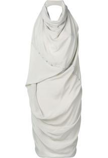 Rick Owens Vestido De Seda 'Babel' - Cinza