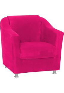 Poltrona Decorativa Tilla Para Sala E Recepção Suede Pink - D'Rossi