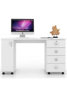 Mesa Computador Office Smart - Branco - Lukaliam Móveis