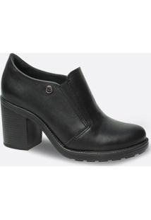 Bota Feminina Ankle Boot Tratorada Salto Grosso Quiz