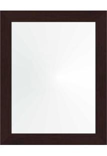 Espelho 38X48 Moldura 4Cm Reta Tabaco