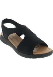 Sandália Comfortflex Feminino - Feminino-Preto