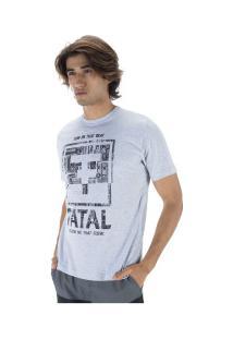 Camiseta Fatal Estampada 22134 - Masculina - Cinza Claro