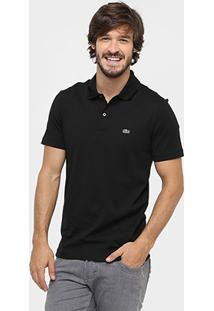 07e84ba00b685 ... Camisa Polo Lacoste Malha Original Fit Masculina - Masculino-Preto