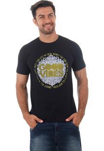 Camiseta Masculina Maidale - Pto/Amarelo