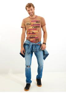 Camiseta John John Rx Color Made Malha Laranja Masculina Tshirt Rx Color Made-Laranja Medio-P