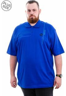 Polo Kairon Plus Size Azul