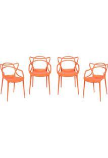 Jogo De Cadeiras De Jantar Solna- Laranja- 4Pã§S-Or Design