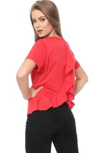 Camiseta Triton Babado Vermelha