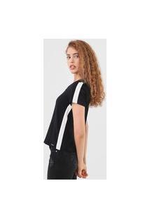 Blusa Cativa Color Block Preta