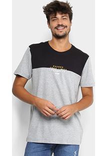 Camiseta Forum Bicolor Mescla Masculina - Masculino-Mescla