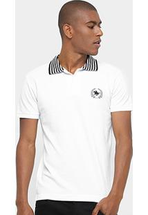 Camisa Polo Rg 518 Piquet Bordada Masculina - Masculino-Branco