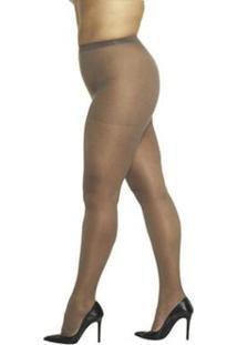 Meia Calça Fio Desfia Loba Lupo Clássica Fina Fio 20 Plus Size - Feminino-Nude