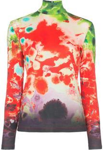 Samuel Gui Yang Blusa Gola Alta Com Estampa Tie Dye - Vermelho