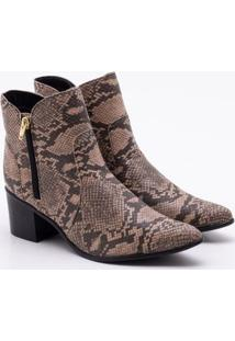 Ankle Boot Ana Luz Snake Nude 35