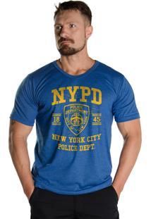 Camiseta Black Flag New York Police Dept. Azul