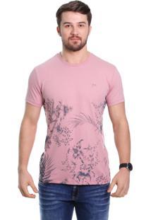Camiseta Javali Rose Barrado
