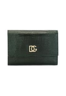 Dolce & Gabbana Carteira Com Efeito De Pele De Cobra - Verde