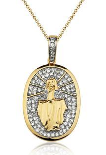 Colar Le Diamond Nossa Senhora Das Graças Dourado