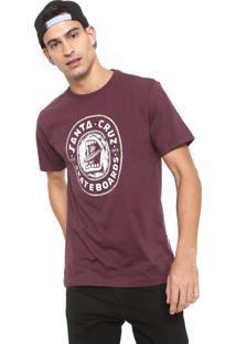 Camiseta Santa Cruz Screamo Bordô