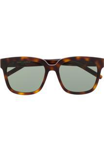 Saint Laurent Eyewear Óculos De Sol 'Slm40' - Marrom