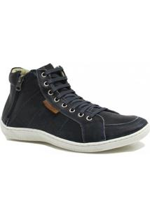 Sapatênis Zariff Shoes Cano Médio Zíper - Masculino-Azul