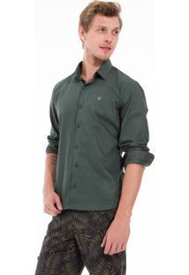 Camisa Docthos Manga Longa Verde Militar