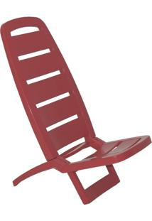 Cadeira Dobrável Guarujá Basic Vermelha