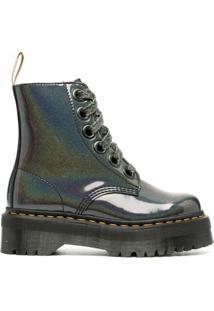 Dr. Martens Ankle Boot Com Cadarço - Cinza