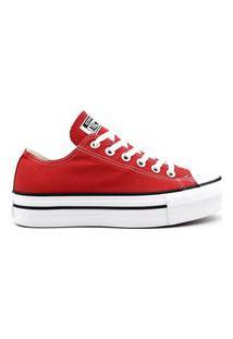 Tênis All Star Converse Ct0495 Plataforma Vermelho Vermelho