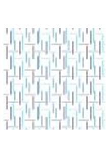 Papel De Parede Adesivo Geométrico Riscos Em Azul 2,70X0,57M