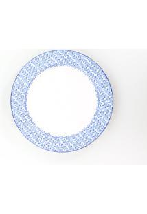Conjunto De Pratos Rasos Porcelana Schmidt 06 Peças - Dec. Coimbra