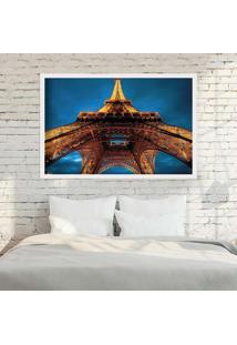 Quadro Love Decor Com Moldura Torre Eiffel La Nuit Branco Grande
