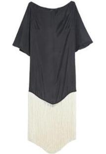 Vestido Franjas Decote Canoa Eva - Feminino