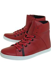 Sapatênis Calvin Klein Cano Vermelho
