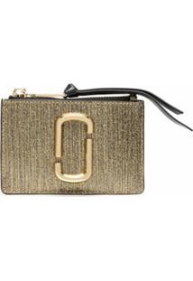 Marc Jacobs Carteira The Snapshot Glitter Stripe - Dourado