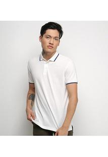 Camisa Polo Ellus Básica Masculina - Masculino-Off White