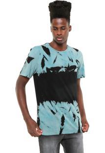 Camiseta Mcd Tie Dye Azul/Preta