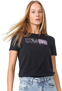 Blusa Calvin Klein Jeans New York Preta