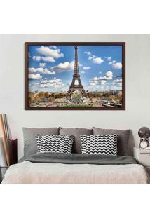 Quadro Love Decor Com Moldura Magnifique Paris Madeira Escura Médio