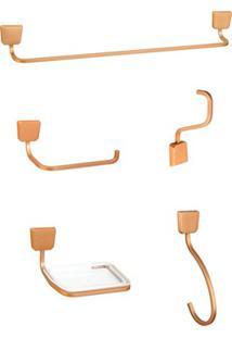 Kit De Acessórios Para Banheiro Origami Cromado
