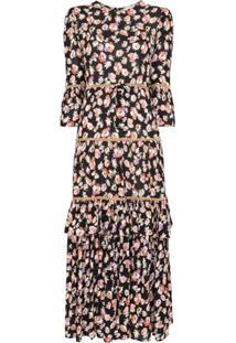 Bytimo Vestido Midi Com Estampa Floral - Estampado